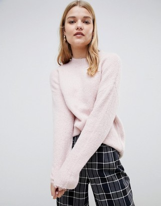Selected brush knit sweater