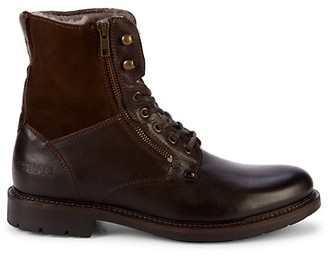 Pajar Mason Faux Shearling Leather Combat Boots