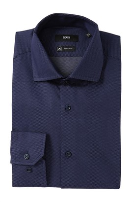 BOSS Gordon Pin Dot Regular Fit Dress Shirt