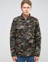 Bellfield Camo Print Military Style Jacket