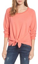 Women's Caslon Tie Front Cotton Blend Sweatshirt