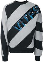 Juun.J striped sweatshirt