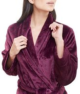 Carole Hochman Ladies' Plush Classic Wrap Style, Locker Loop, Tie Closure with Side Loops Robe (, Purple)