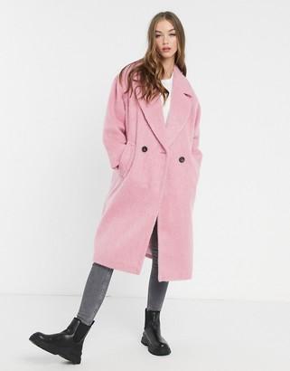 ASOS DESIGN slouchy oversized coat in pink