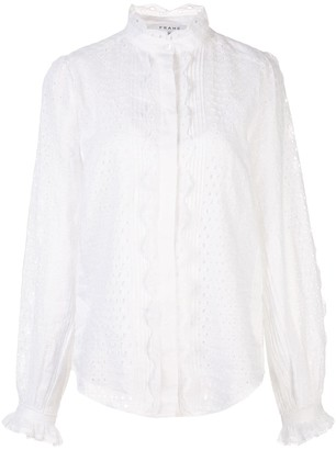 Frame Embroidered Cut-Out Blouse