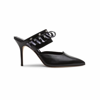Alexis Isabel Lumi Black Leather Mules