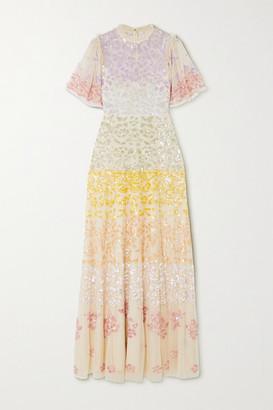 Needle & Thread + Jasmine Hemsley Chakra Sequin-embellished Tulle Gown - Ecru