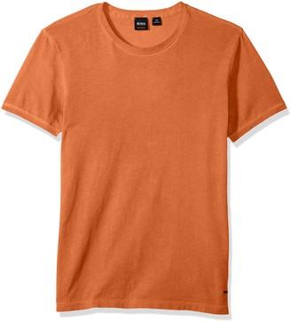 HUGO BOSS BOSS Orange Men's Garment Dyed Cotton Slim Flit Crew Neck Tee Shirt XXL