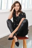 Next Womens Black Leather Look Leggings - Black
