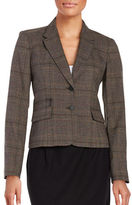 Calvin Klein Plaid Two-Button Blazer