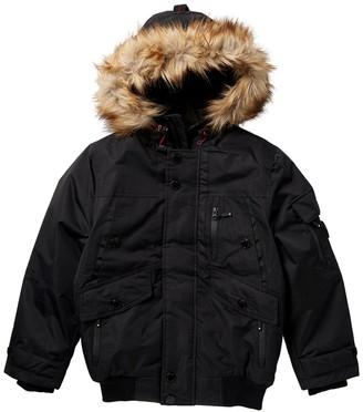 Noize Max Faux Fur Trimmed Hood Bomber Jacket