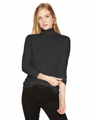Majestic Filatures Women's Chloe' Cotton/Cashmere Blend Long Sleeve Turtleneck