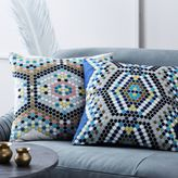 Embroidered Mosaic Tile Pillow Cover