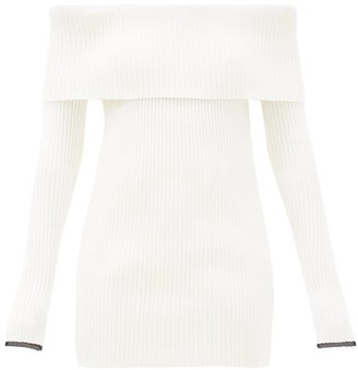 Proenza Schouler Off-the-shoulder Ribbed Sweater - White