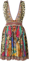Camilla printed plunge dress