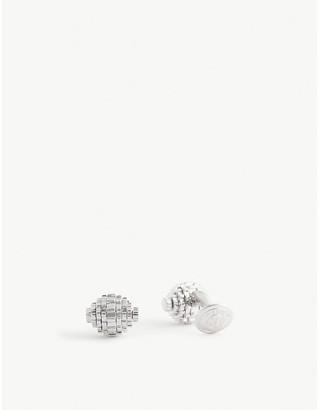 Tateossian Gear Sphere rhodium-plated sterling silver cufflinks