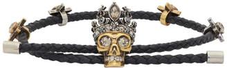 Alexander McQueen Black Queen Bracelet