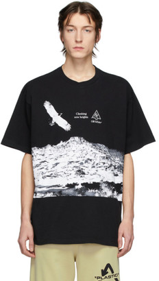 Off-White Black and White Eagle Landscape T-Shirt