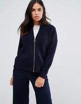 YMC Merino Wool Knit Bomber Zip Cardigan