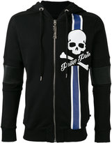 Philipp Plein skull stripe print hoodie - men - Cotton - M