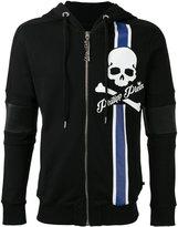 Philipp Plein skull stripe print hoodie
