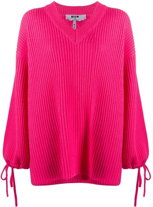 MSGM Drawstring Sleeves Oversize Jumper