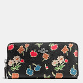 Coach Accordion Zip Wallet In Daisy Field Print Coated Canvas