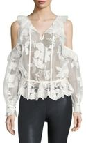 Three floor Icelandic Cold-Shoulder Lace Top