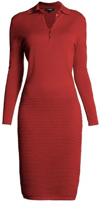 Rumour London Olivia Red Soft Merino Wool Blend Dress