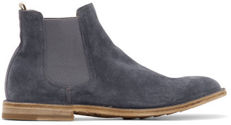 Officine Creative Blue Steple 5 Chelsea Boots