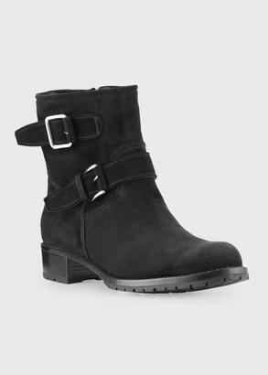 Gravati Two-Strap Suede Moto Boots