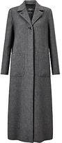 Max Mara Weekend Long Line Tweed Coat, Black