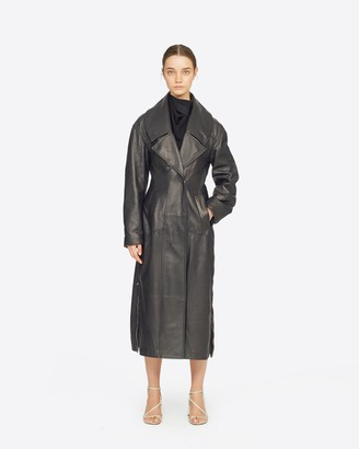 3.1 Phillip Lim Zipped Leather Trench