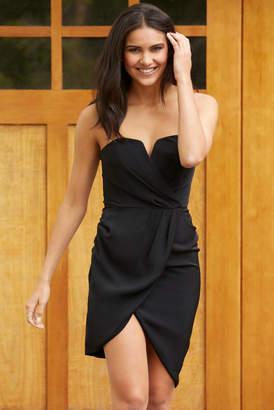 A Love Like You Strapless V-Wire Dress Black S