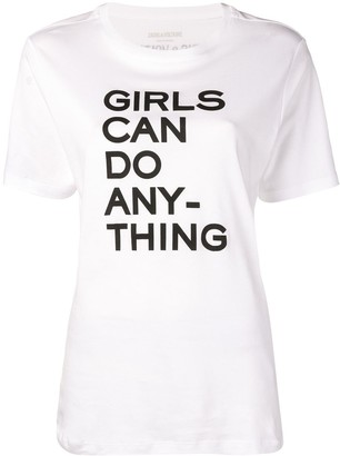Zadig & Voltaire Zadig&Voltaire Girls Can Do Anything T-shirt