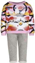 adidas CLOUD SET Tracksuit bottoms multcolor/medium grey heather/white