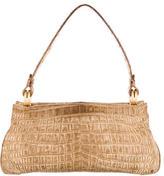 Bottega Veneta Matte Crocodile Frame Bag
