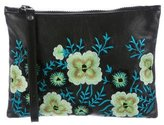 Christopher Kane Embroidered Leather Wristlet