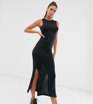 Noisy May Tall Mayden bodycon midi dress-Black