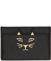 Charlotte Olympia Black Feline Card Holder