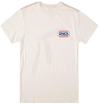 RVCA Demolition Short Sleeve (Antique White) Men's Clothing