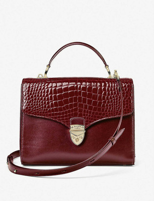 Aspinal of London Mayfair crocodile-embossed leather cross-body bag
