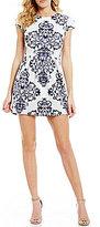 B. Darlin Scroll Print Skater Dress