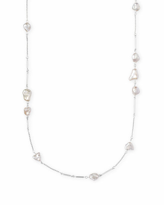 Kendra Scott Sabrina Long Necklace in Pearl