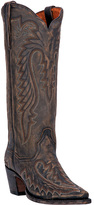 Dan Post Vintage Tan Embroidered Leather Cowboy Boot - Women