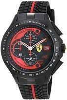 Ferrari 830077 Scuderia Race Day Chronograph Mens Watch - Black Dial
