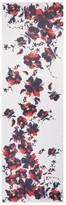 St. John Spring Blossom Print Silk Georgette Scarf