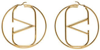 Valentino Gold Garavani VLogo Hoop Earrings