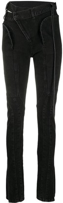 Ottolinger Asymmetric Fastening Bootcut Jeans