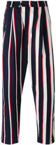 Henrik Vibskov striped loose fit trousers